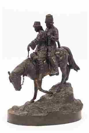 ALBERT MORITZ WOLFF (GERMAN/RUSSIAN, 1854–1923) BRONZE
