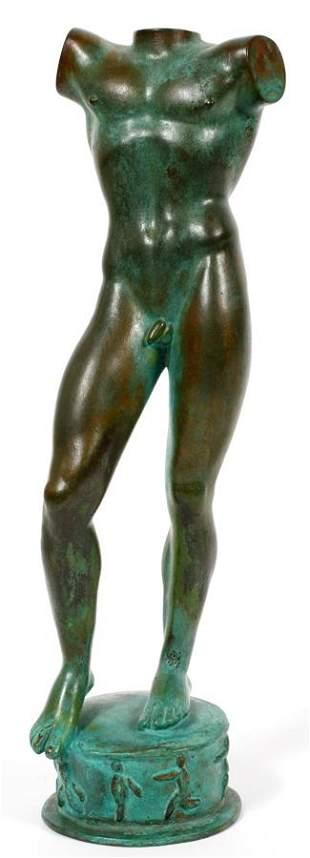 "CARL MILLES, SWEDISH 1875-1955, BRONZE, ""SUN SINGER,"