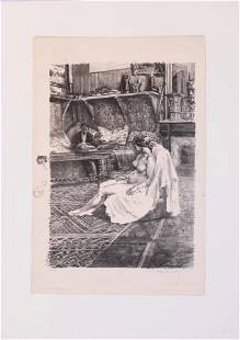 ALEXANDRE LUNOIS FRENCH 18631916 LITHOGRAPH ON WOVE