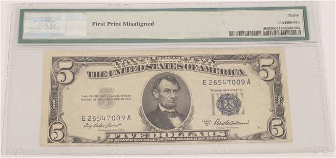US5DOLLAR PAPER CURRENCY NOTE RARE FIRST PRINT