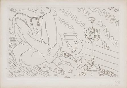 HENRI MATISSE (FRENCH, 1869–1954) ETCHING, ON CHINE