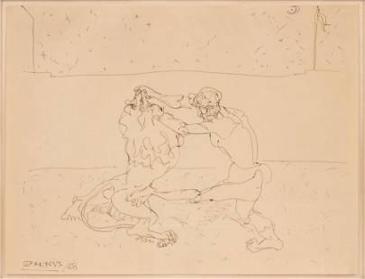 JOHN GRAHAM (AMERICAN, 1886–1961) PEN ON WOVE PAPER,