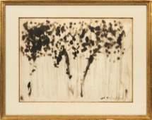 MILTON AVERY (AMERICAN, 1885–1965) INK WASH ON WOVE