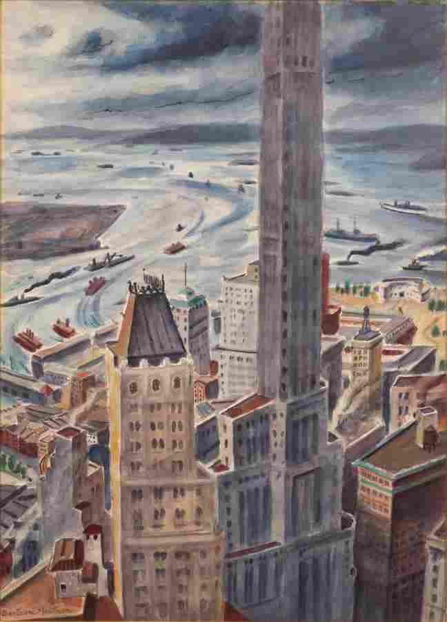 C. BERTRAM HARTMAN (AMERICAN, 1882–1960) WATERCOLOR, ON