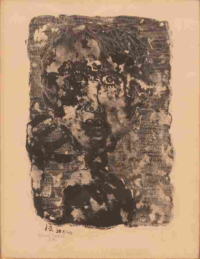 JEAN DUBUFFET (FRENCH, 1901–1985) LITHOGRAPH, ON WOVE
