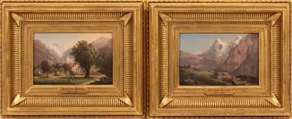 HERMANN HERZOG (GERMAN/AMER, 1832-32), OIL ON BEVELED P