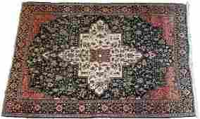 VERY FINE PERSIAN FARAHAN MOHAIR RUG, C. 1900, W 4'