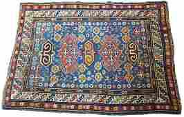 PERSIAN CAUCASIAN WOOL RUG C 1910 W 3 3 L 4 3