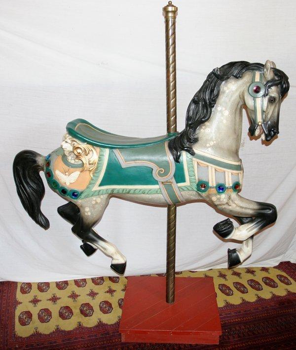 050005: AFTER CHARLES LOOF, FIBERGLASS CAROUSEL HORSE