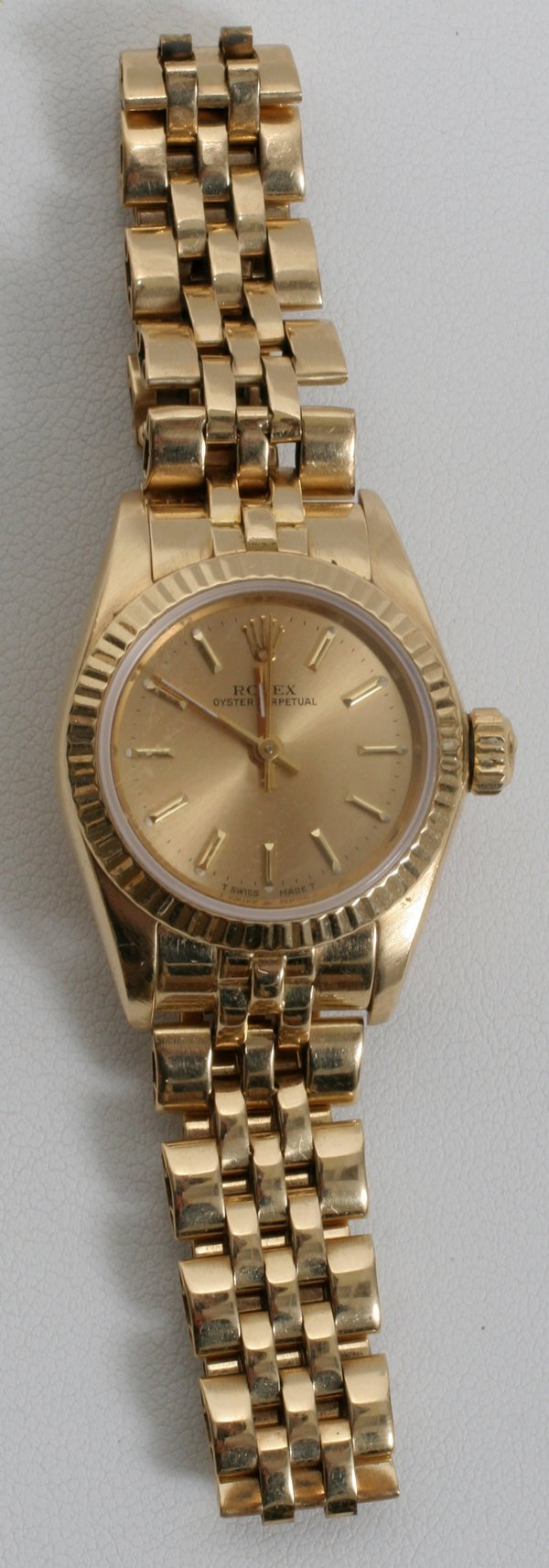 050012: ROLEX 18 KT YELLOW GOLD WRISTWATCH, LADIES