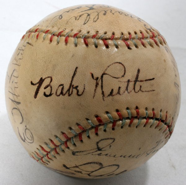 050016: AUTOGRAPHED 1934 ALL-STAR TEAM SIGNED BASEBALL