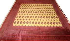 "051079: BOKHARA ORIENTAL RUG, C. 1940, 9' 2"" X 8' 4"""