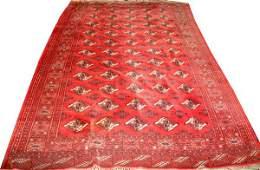 "051080: BOKHARA ORIENTAL RUG, C. 1960, 9' 10"" X 6' 8"""