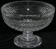 """051172: WATERFORD CRYSTAL COMPOTE, H 8"""", DIA 10 3/4"""""""