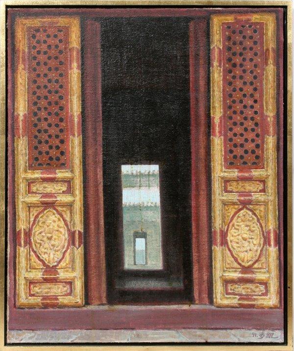 """052008: LI KAI OIL/CANVAS, 1991 """"GARDEN TO PALACE GATE"""""""