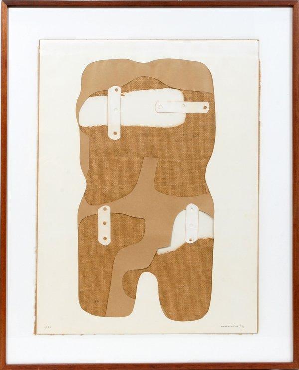 """052013: CONRAD MARCA-RELLI, MIXED MEDIA 26"""" X 20"""", 1970"""