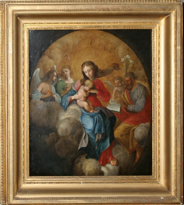 052017: ITALIAN PAINTING ON COPPER, THE HOLY FAMILY