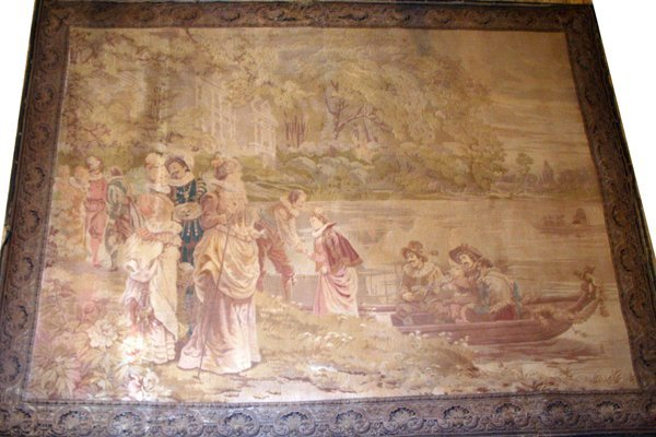 060018: FRENCH WOOL TAPESTRY, CIRCA 19 TH C, W 68""