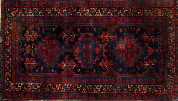 "060020: PERSIAN HAMADAN WOOL CARPET 65"" X 38"""