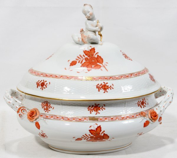 061013: HEREND 'CHINESE BOUQUET' DIRECTOIRE TUREEN