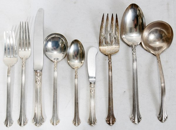 Sterling Silver Flatware Towle Silver Plumes Salad Fork