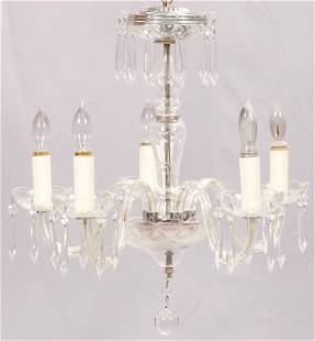 """WATERFORD QUALITY CRYSTAL CHANDELIER, H 21"""", DIA 21"""""""
