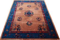 CHINESE HAND WOVEN WOOL RUG C 1930 W 811 L 119