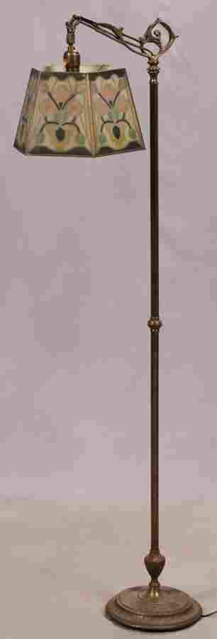 "CAST IRON FLOOR LAMP H 58"" L 11"""