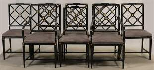 """DINING CHAIRS, SET OF EIGHT, HEPPLEWHITE STYLE H 36"""""""