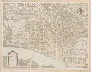 OUTERBRIDGE HORSEY, MAP OF PRESENT DAY GEORGETOWN 1993
