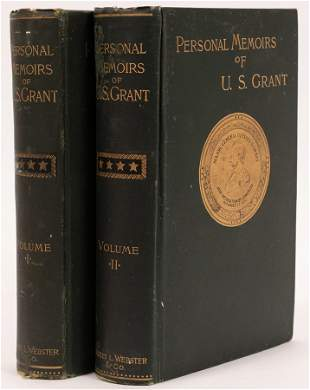 FIRST EDITION OF THE PERSONAL MEMOIRS OF U.S. GRANT,