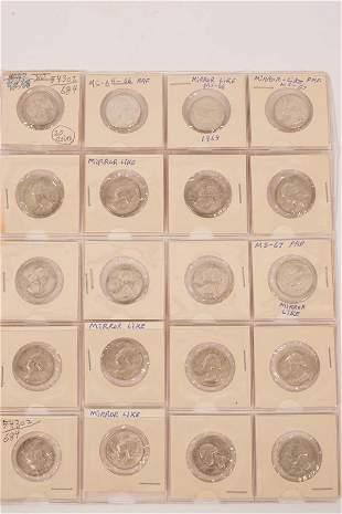 1964 GEORGE WASHINGTON QUARTERS STERLING WGT 6.25 GRAMS;