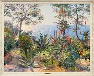 PIERRE BITTAR (FRENCH/AMERICAN, B. 1934) OIL ON CANVAS,