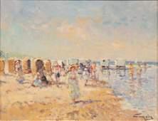 NIEK VAN DER PLAS (DUTCH, B.1954) OIL ON WOOD PANEL, H