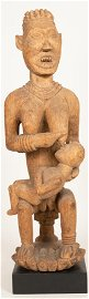 BANGWA PEOPLE, CAMEROON, AFRICAN CARVED WOOD MATERNITY