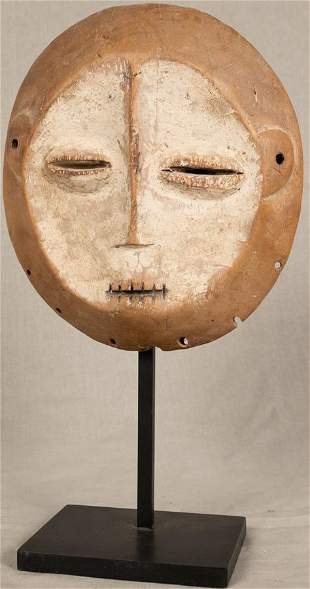 """KWELE, CONGO, AFRICAN  MASK MID TO LATE 20TH C. H 8.5"""""""