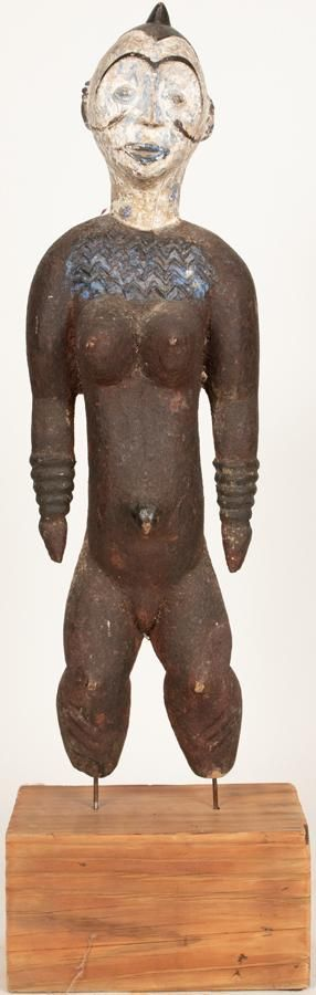 IBO, NIGERIA, AFRICAN, CARVED WOOD AND PIGMENT,
