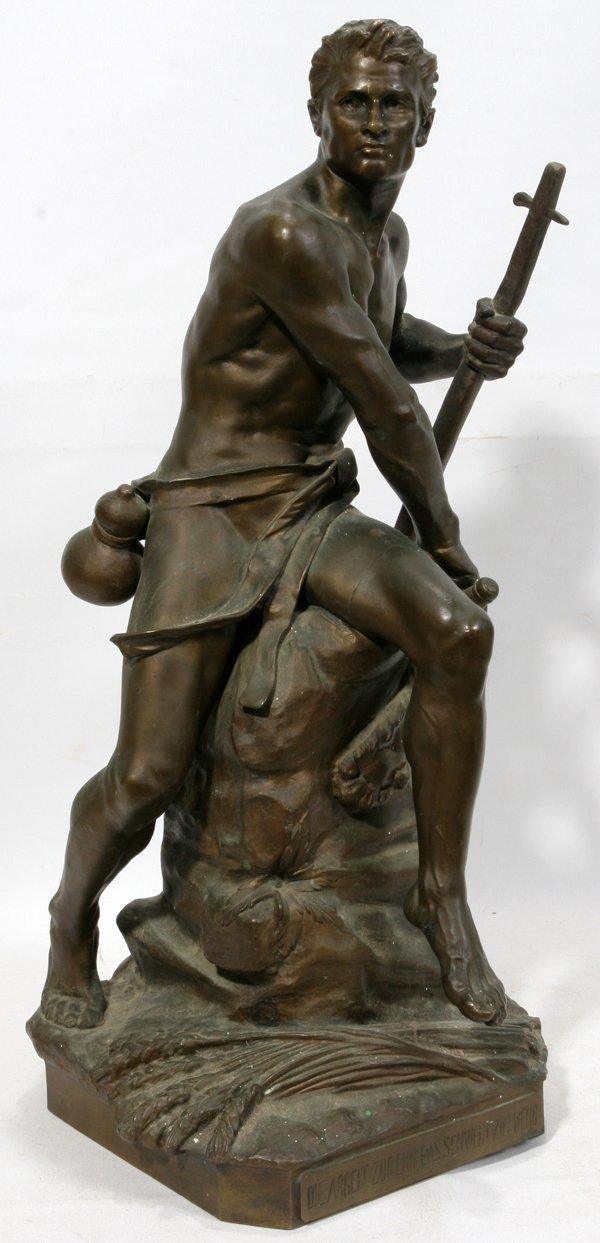 070014: ERNEST FERRAND (1846-1932), BRONZE SCULPTURE