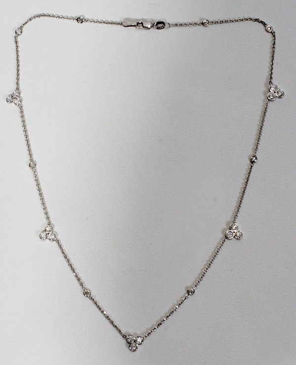 """070016: 2.00 CT. DIAMOND BY THE YARD NECKLACE, L 15"""""""