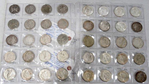 070250: U.S. MORGAN/PEACE SILVER DOLLAR COINS 1881-1935
