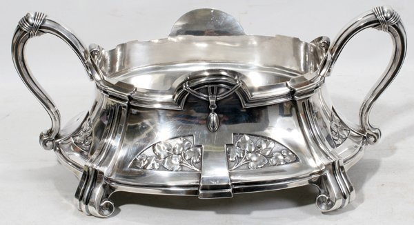 071006: GERMAN ART NOUVEAU .800 SILVER PLANTER, C. 1900