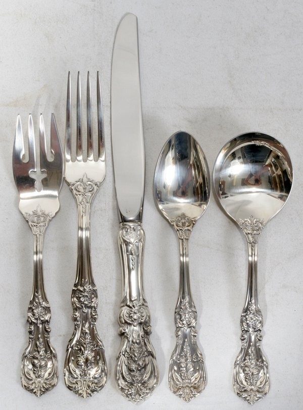 071014: REED & BARTON 'FRANCES I' STERLING FLATWARE