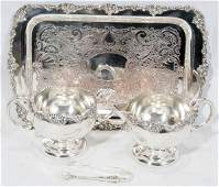 071434 VICTORIAN PLATE SERVING PIECES FOUR