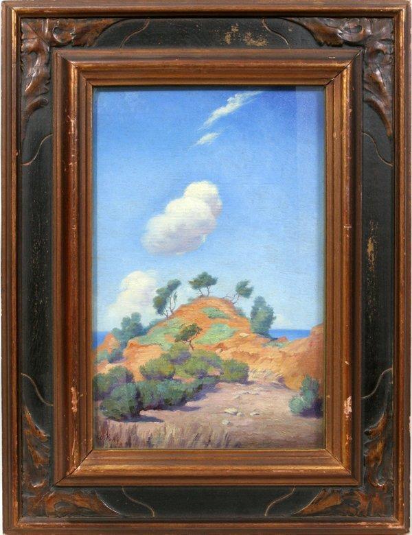 072009: HUGO DAVID POHL, OIL ON BOARD SOUTHWEST DESERT