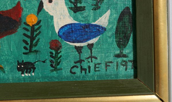 072016: PHILIP WILLE LE RAY FOLK ART OILS ON MASONITE - 2