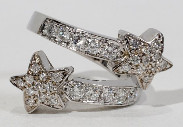 080003: 1.50 CT. DIAMOND 'DOUBLE STAR' RING
