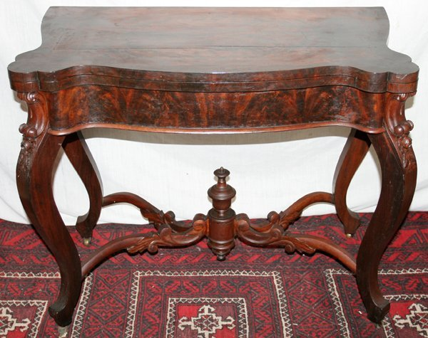 """080022: ROSEWOOD CONSOLE GAME TABLE, C 1840, H 30"""","""