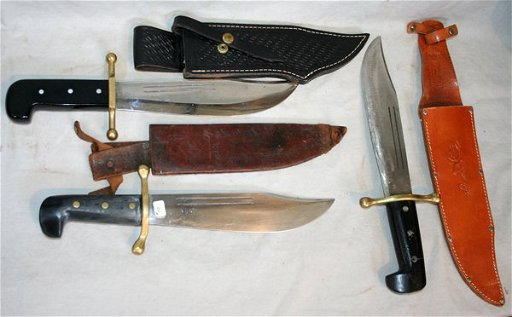 080175: CASE XX, KINFOLK BOWIE KNIVES, C 1944, 3 PCS
