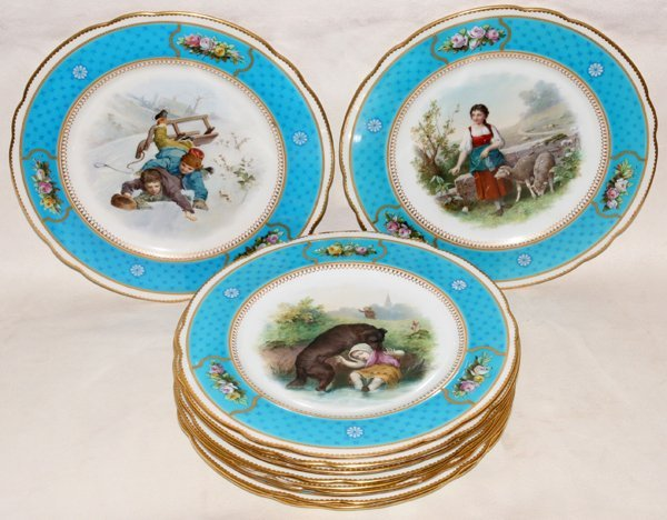 081006: BROWNFIELD'S CHINA PLATES RETAILED BY TIFFANY &