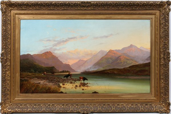 082002: FRANCIS SIDNEY MUSCHAMP OIL/CANVAS, DATED 1864